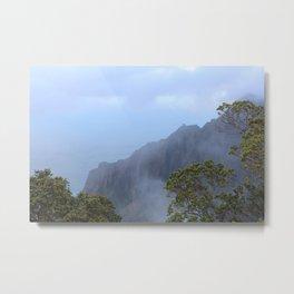 Fog Lifting Metal Print