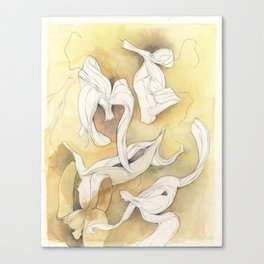 Banana Peelings Canvas Print