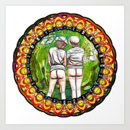 Bums In The Woods Art Print