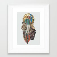 transistor Framed Art Prints featuring Transistor Radio by Computarded