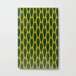 Houseplant Queen Anthurium Warocqueanum Design Metal Print