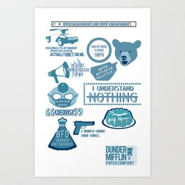 The Office - quotes and quips and stuffs Art Print