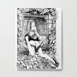asc 363 - Le gardien des ruines (The guardian of the ruins) Metal Print