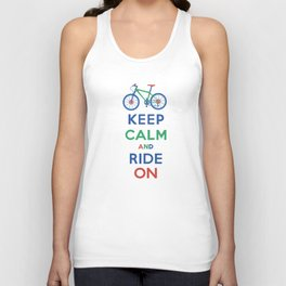Keep Calm and Ride On Unisex Tank Top