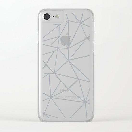 Ab Outline 2 Grey on White Clear iPhone Case