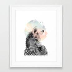 Zebra // Dreaming Framed Art Print