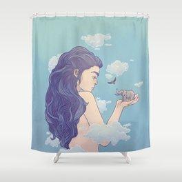 Gigantic Lady Shower Curtain