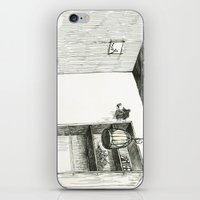 hunting iPhone & iPod Skins featuring Moon Hunting by Nayoun Kim