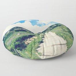 Up Mount Rainier Floor Pillow
