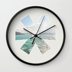 summer seas Wall Clock