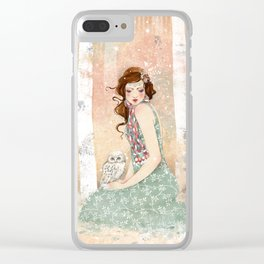 Mademoiselle Snow Clear iPhone Case