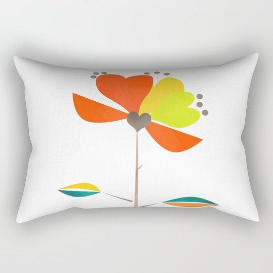 Fantasy . Flower . Rectangular Pillow