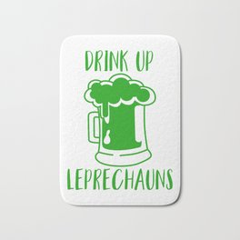 Drink Up Leprechauns Green Beer Drinking St Patricks Bath Mat