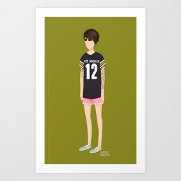 Tegan and Sara: Tegan's Pink Shorts Art Print