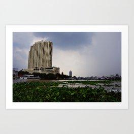 Chao Phraya River View Art Print