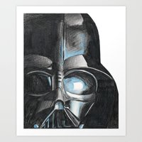 darth Art Prints featuring Darth by Michael Hewitt