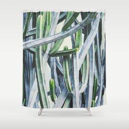 Green Crush Cactus I Shower Curtain