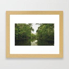 GREENBELT WATER Framed Art Print