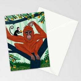 The Orangutan in The Orange Trees. Stationery Cards