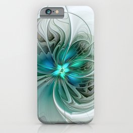 Abstract With Blue, Fractal Art iPhone Case