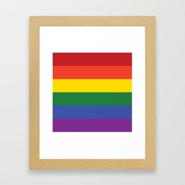 Gay Flag Framed Art Print