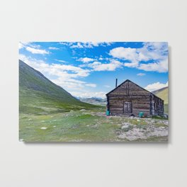 Teplyi kluch - geothermal source in the Altai Mountains Metal Print
