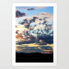 Endless sky Art Print