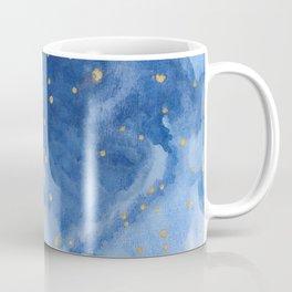 Blue and Gold Starry Night Coffee Mug