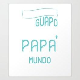 Mens Camiseta de Hombre Mejor Papa del Mundo para Dia del Padre T-Shirt Art Print