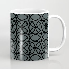 Circle Heaven 2 Illustration, Overlapping Ring Design Night Watch (PPGs Color of the Year 2019) Coffee Mug
