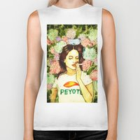 ultraviolence Biker Tanks featuring Hydranges and Peyote by Robert Red ART