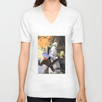 spiritual V-neck T-shirts featuring Spiritual Freefall by Michael Harford