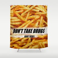 french fries Shower Curtains featuring French Fries by Ispas Sorin