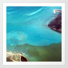 Jeweled Seaway Art Print