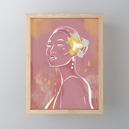 Woman Line Figure Abstract Plum by Cindy Rose Studio Framed Mini Art Print
