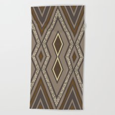 Geometric Rustic Glamour Beach Towel
