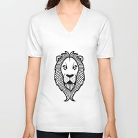 the lion king V-neck T-shirts featuring Lion King by ArtSchool