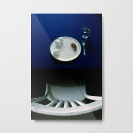 Breakfast in Blue Metal Print