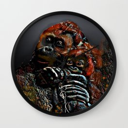 Mommy and Me 2 Wall Clock