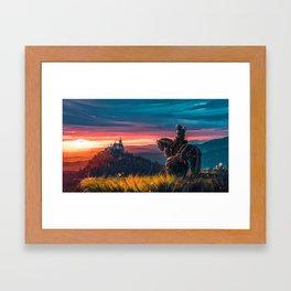 Witcher - Beyond Hill Framed Art Print