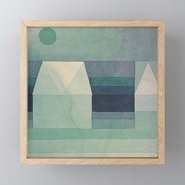 1922 - Three Houses by Paul Klee Framed Mini Art Print
