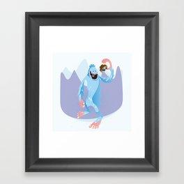 Year of the Yeti Framed Art Print