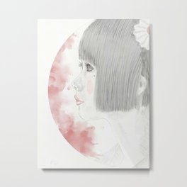 Portrait of young Japanese girl Metal Print
