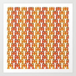 Autumn Foxes Art Print