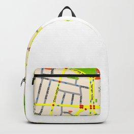 Tel Aviv map design - written in Hebrew Backpack