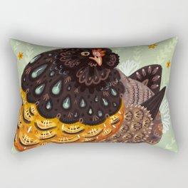 Golden Chicken Rectangular Pillow