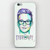 tyler spangler iPhone & iPod Skins featuring Tyler Oakley  by Stephanie Shaw