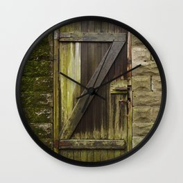 Z. The Old Door. Wall Clock