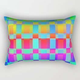 Multi colored square pattern Rectangular Pillow