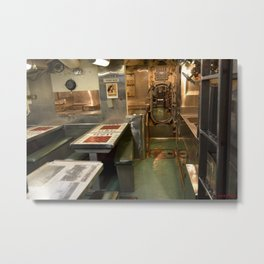 The USS Batfish SS-310 - In the Crew's Mess Metal Print